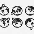 Wektor stockowy : Globe earth vector icons themes idedesign