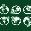 Globe earth vector icons themes idedesign — Stok Vektör #38941289