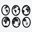 Globe earth vector icons themes idedesign — Stok Vektör #39050413