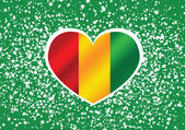 Guinea flag icon design — Stock Vector