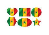 Senegal flag icon design — Stock Vector