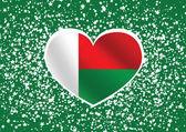 Flag of Madagascar themes idea design — Stock Vector