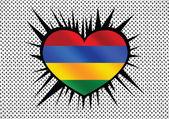 Flag of Mauritius themes idea design — Stock Vector