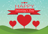 Happy valentines day cards idea design — Vettoriale Stock