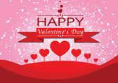 Happy valentines day cards idea design — Vector de stock