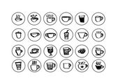 Coffee cup set or Tea cup icon collection design — Stock Vector