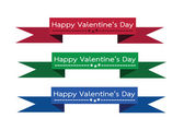 Happy valentines day cards idea design — Vecteur