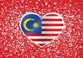 Malasia bandera temas idea diseño — Vector de stock