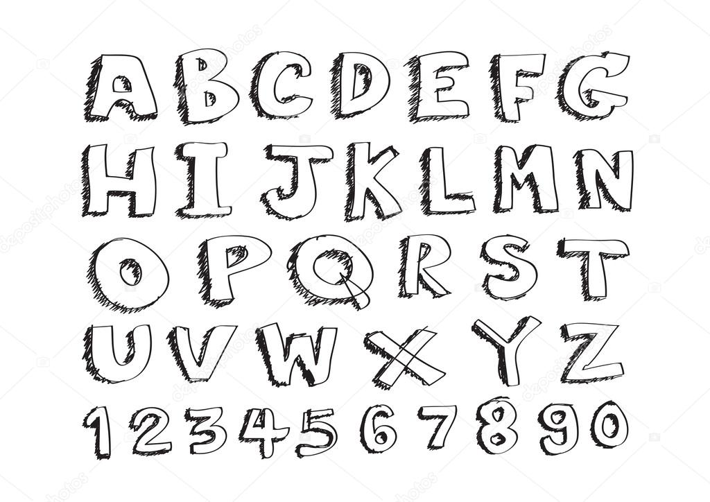 Ruling Pen Font Font Written With a Pen