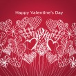 Happy valentines day cards idea design — Vector de stock  #39503447