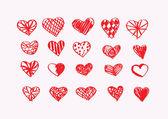 Felice giorno di san valentino schede progettazione idea — Vettoriale Stock