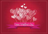 Happy valentines day cards idea design — Stock Vector