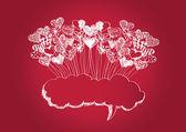 Happy valentines day cards idea design — Stock Vector