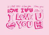 Happy valentines day cards idea design — ストックベクタ