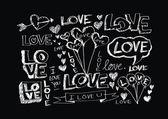 Conjunto de corações de dia dos namorados — Vetor de Stock
