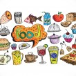 Colorful Food Icons Vector set — Stock Vector #40023799