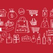 Shopping icons set — Vector de stock #40216541