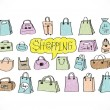 Shopping bag icons set — Vector de stock #40216713