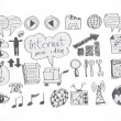 Internet icon set — Vector de stock #40216927