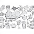 Vector de stock : Food Icons Vector set