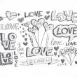 Hand draw Valentine's day design — Vettoriale Stock