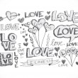 Hand draw Valentine's day design — Stockvector