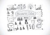 Hand sketch doodle Business doodles icon — Stockvektor