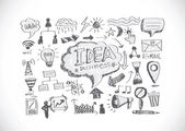 Hand sketch doodle Business doodles icon — Stok Vektör