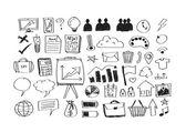 Hand doodle Business doodles — Stockvektor