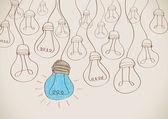 Idea concept light bulb vector — Stock Vector