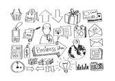 Hand doodle Business doodles — ストックベクタ