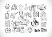 Hand doodle Business doodles — Vecteur