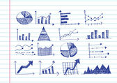 Hand doodle Business doodles — Vettoriale Stock