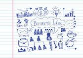 Hand doodle Business doodles — 图库矢量图片