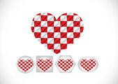 Hjärtat och alla hjärtans dag kort vektor bakgrund — Stockvektor