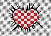 Corazón y el día de San Valentín tarjeta vector fondo — Vector de stock