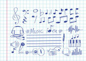 Music Notes and Music icons — Stock Vector