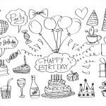 Hand drawn Birthday doodles — Stock Vector #40952551