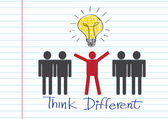 Think different idea design — Vettoriale Stock