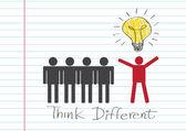 Think different idea design — Stockvector