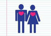 People couple icon — Stock Vector