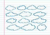 Design of clouds — Stock Vector