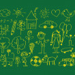 Children's drawings idea design — Stock Vector