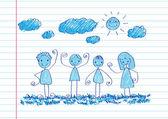 子供の図面のアイデア設計 — ストックベクタ