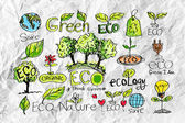 Eco Idea Sketch and Eco friendly Doodles — Stock Photo