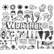 Stock Vector: Weather symbols widget and icons