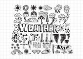 Weather symbols widget and icons — Stock Vector
