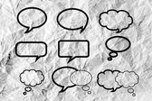 пузырь речи — Стоковое фото
