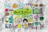 Drawing school items Back to School — Stock Photo