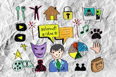Business doodles — Stock Photo